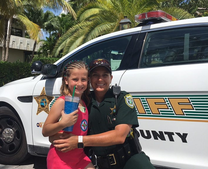 Deputy Johnson with Little Girl
